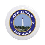 New Jersey Freemason Ornament (Round)