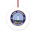 New Jersey Freemason Ornament (Round)