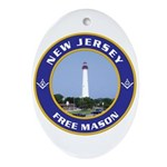 New Jersey Freemason Oval Ornament