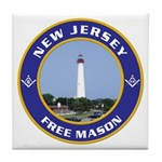 New Jersey Freemason Tile Coaster