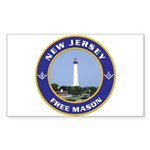 New Jersey Freemason Rectangle Sticker