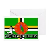 Dominica Flag Soccer Greeting Cards (Pk of 10)
