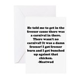 Meatwad Greeting Cards (Pk of 20)