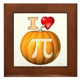I Love Pumpkin Pi Framed Tile