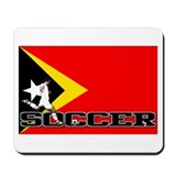 East Timor Flag Soccer Mousepad