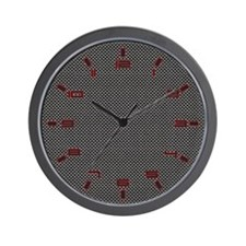 Porsche Carbon Fiber Wall Clock