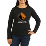 Stoned Women's Long Sleeve Dark T-Shirt