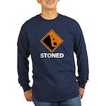 Stoned Long Sleeve Dark T-Shirt