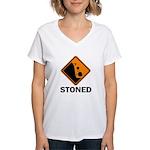 Stoned Women's V-Neck T-Shirt