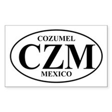 CZM Cozumel Rectangle Decal