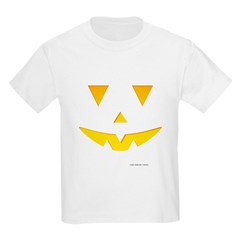 Smiley Pumpkin Face Kids Light T-Shirt