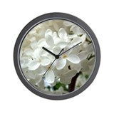 White Lilac Wall Clock