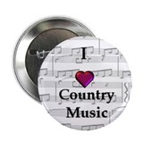 """I Love Country Music"" 2.25"" Button (10 pack)"