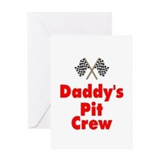 Biker Baby Pit Crew Dad Greeting Card