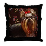 Yorkie Dog~Sitting Pretty~LilyKo.com Throw Pillow