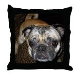 Pug Home Throw Pillow