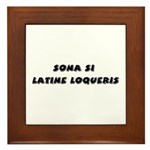Honk If You Speak Latin! Framed Tile