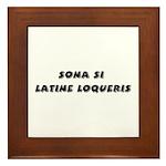 Honk If You Speak Latin! Framed Tile