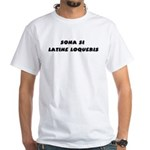 Honk If You Speak Latin! White T-Shirt