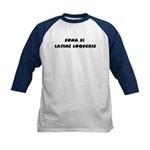 Honk If You Speak Latin! Kids Baseball Jersey