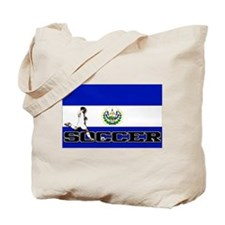 El Salvador Flag Soccer Tote Bag
