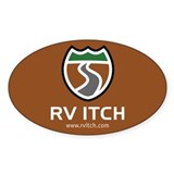 RV Itch Oval Sticker (State Park Colors)