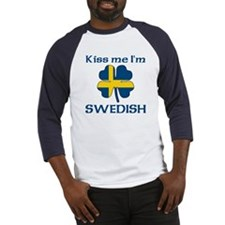 Kiss Me I'm Swedish Baseball Jersey