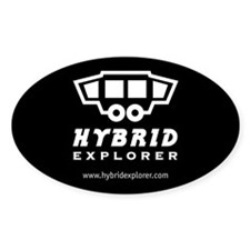 Hybrid Explorer Sticker (Black Oval)