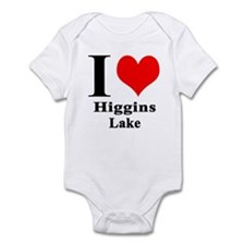 I heart Higgins Lake Infant Bodysuit