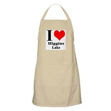 I heart Higgins Lake BBQ Apron