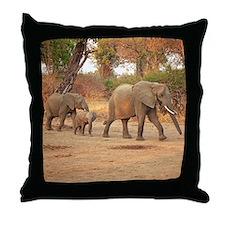 Elephant family throw Pillow
