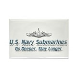 Cute Submarines Rectangle Magnet (100 pack)