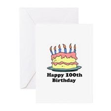 Happy 100th Birthday Greeting Cards (Pk of 10)