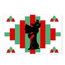 Schnauzer Christmas Postcards (Pk of 8)