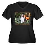 Harvest Sheltie Women's Plus Size V-Neck Dark T-Sh