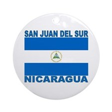 San Juan Del Sur, Nicaragua Ornament (Round)