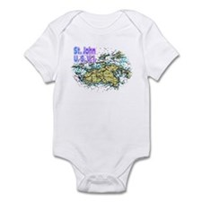 St. John U.S.V.I. chart Infant Bodysuit