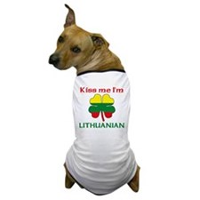 Kiss Me I'm Lithuanian Dog T-Shirt