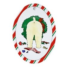 Wheaten Terrier Christmas Oval Ornament