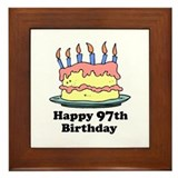 Happy 97th Birthday Framed Tile