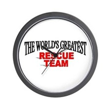 """The World's Greatest Rescue Team"" Wall Clock"