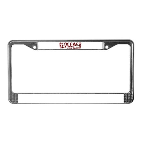 Redeemed by the Blood License Plate Frame