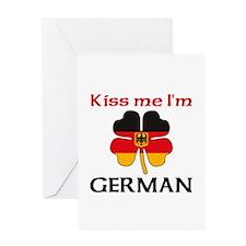 Kiss Me I'm German Greeting Card