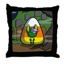 Candycorn Neekksy Throw Pillow