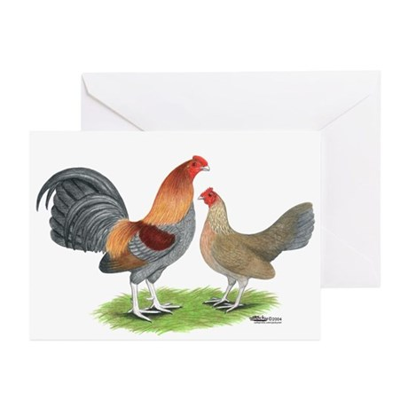 Blue Red OE Greeting Cards (Pk of 10)