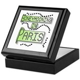Green Honeymoon Paris Keepsake Box