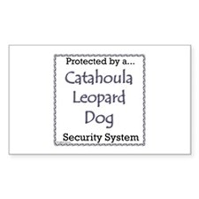 Catahoula Security Rectangle Decal