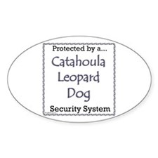 Catahoula Security Oval Decal