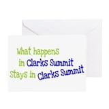 What Happens In Clarks Summit Greeting Cards (Pk o