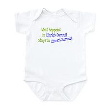 What Happens In Clarks Summit Infant Bodysuit